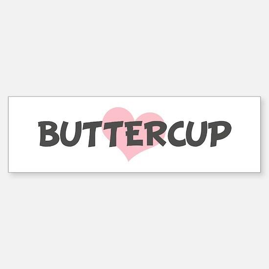 BUTTERCUP (pink heart) Bumper Car Car Sticker