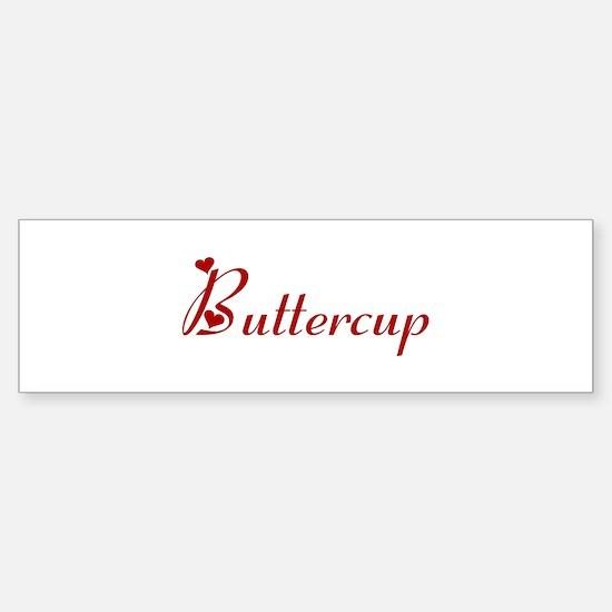 Buttercup (hearts) Bumper Car Car Sticker