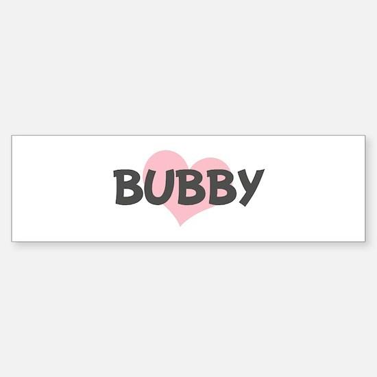 BUBBY (pink heart) Bumper Car Car Sticker