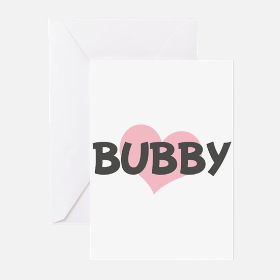 BUBBY (pink heart) Greeting Cards (Pk of 10)