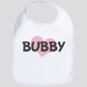 BUBBY (pink heart) Bib