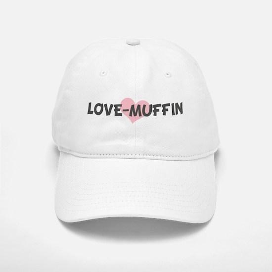 LOVE-MUFFIN (pink heart) Baseball Baseball Cap