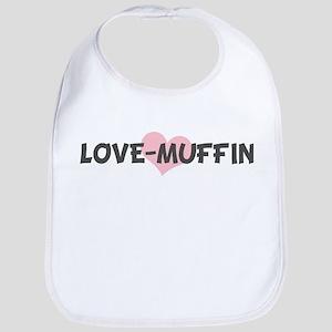LOVE-MUFFIN (pink heart) Bib