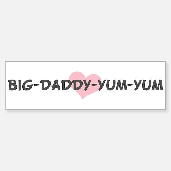 BIG-DADDY-YUM-YUM (pink heart Bumper Car Car Sticker
