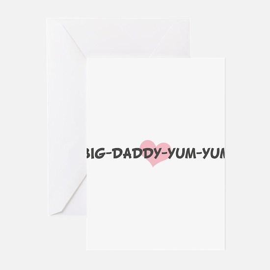 BIG-DADDY-YUM-YUM (pink heart Greeting Cards (Pk o