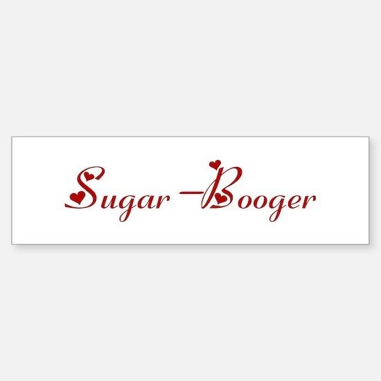 Sugar-Booger (hearts) Bumper Car Car Sticker