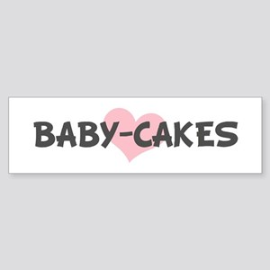 BABY-CAKES (pink heart) Bumper Sticker