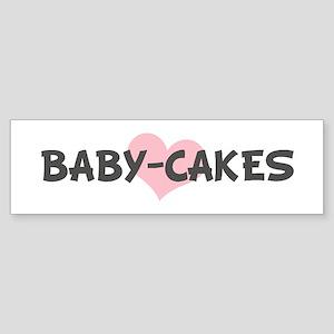 BABY-CAKES (pink heart) Bumper Sticker