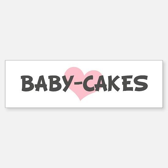 BABY-CAKES (pink heart) Bumper Car Car Sticker