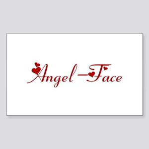 Angel-Face (hearts) Rectangle Sticker