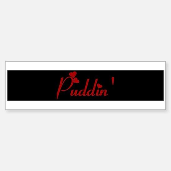 Puddin` (hearts) Bumper Car Car Sticker