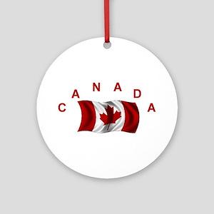 Canadian Flag Ornament w/ribbon