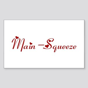 Main-Squeeze (hearts) Rectangle Sticker