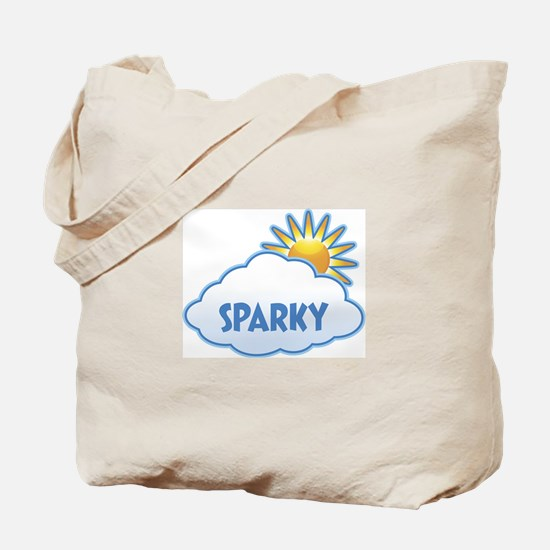 sparky (clouds) Tote Bag