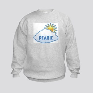 dearie (clouds) Kids Sweatshirt