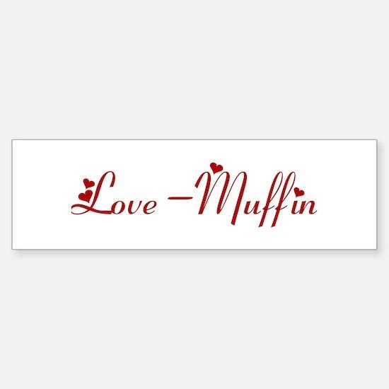 Love-Muffin (hearts) Bumper Car Car Sticker