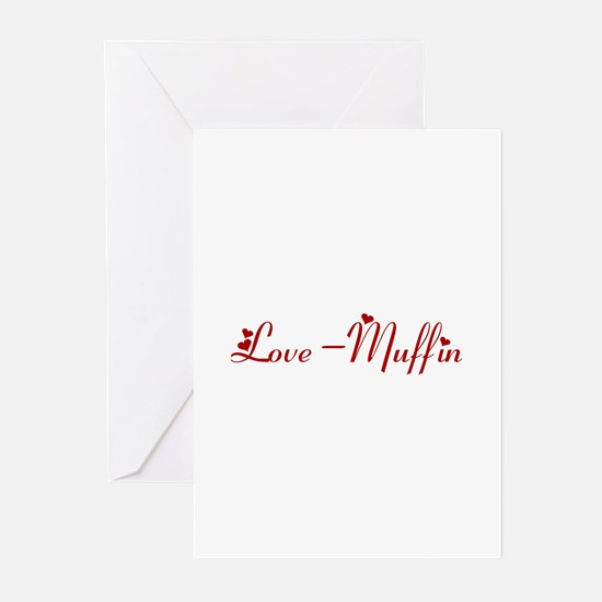 Love-Muffin (hearts) Greeting Cards (Pk of 10)