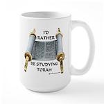 I'd Rather Be Studying Torah Large Mug