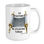 I'd Rather Be Studying Torah Large Mug
