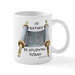 I'd Rather Be Studying Torah Mug