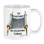I'd Rather Be Studying Torah Mug