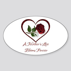 A Mother's Love Oval Sticker