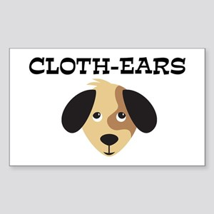 CLOTH-EARS (dog) Rectangle Sticker