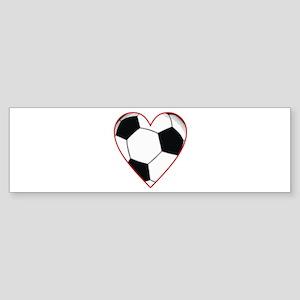Valentine Soccer Heart Bumper Sticker
