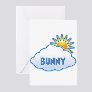 bunny (clouds) Greeting Cards (Pk of 10)