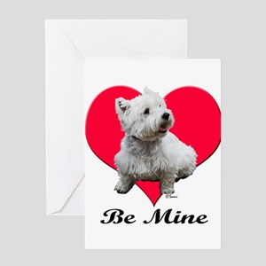 Sitting Westie Greeting Cards
