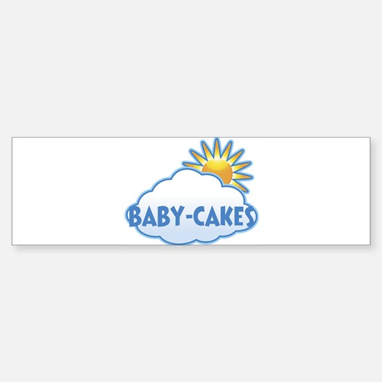 baby-cakes (clouds) Bumper Car Car Sticker