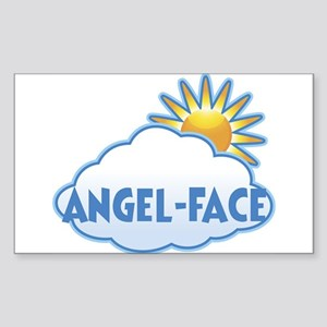 angel-face (clouds) Rectangle Sticker