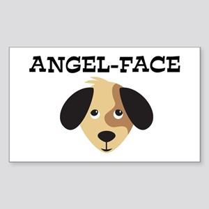 ANGEL-FACE (dog) Rectangle Sticker