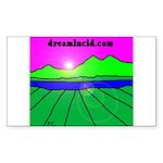 dreamlucid.com Rectangle Sticker
