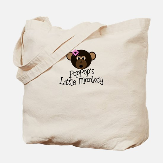 PopPop's Little Monkey GIRL Tote Bag