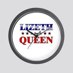 LIZETH for queen Wall Clock