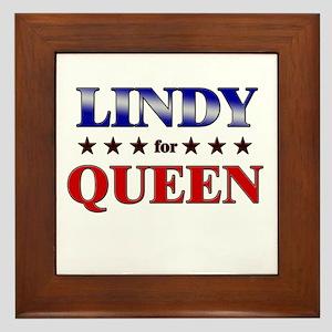 LINDY for queen Framed Tile