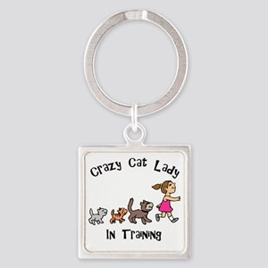 Crazy Cat Lady In Training Keychains