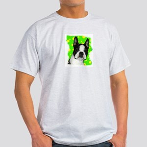 BOSTON TERRIER WITH BUBBLES Light T-Shirt