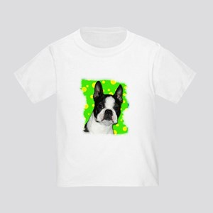 BOSTON TERRIER WITH BUBBLES Toddler T-Shirt