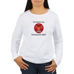 Mad About Valentines Day Women's Long Sleeve T-Shi