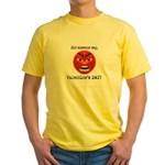Mad About Valentines Day Yellow T-Shirt