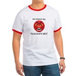 Mad About Valentines Day Ringer T