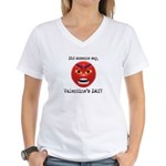 Mad About Valentines Day Women's V-Neck T-Shirt