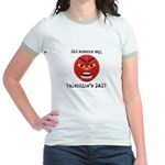Mad About Valentines Day Jr. Ringer T-Shirt