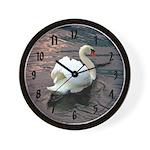 Swan #1 - font 2 - Wall Clock