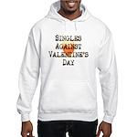 Singles Against Valentines Day Hooded Sweatshirt