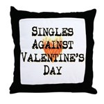 Singles Against Valentines Day Throw Pillow