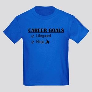 Lifeguard Career Goals Kids Dark T-Shirt