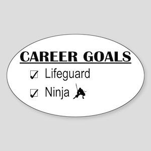 Lifeguard Career Goals Oval Sticker